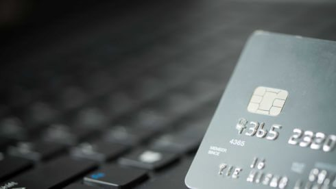 Credit card on laptop for online payment or shopping concept accountants east sussex GDPR
