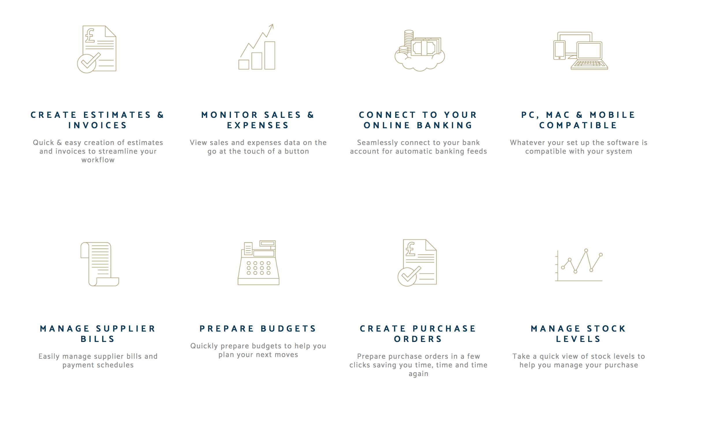 Quickbooks functionality